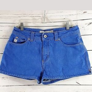 GUESS JEANS Womens Denim Medium Wash Shorts 32